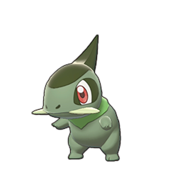 Sprite of Axew in Pokémon Sword/Shield