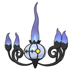 Sprite of Chandelure in Pokémon Sword/Shield