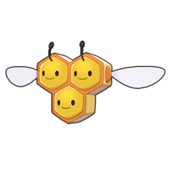 Sprite of Combee in Pokémon Sword/Shield