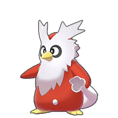 Sprite of Delibird in Pokémon Sword/Shield