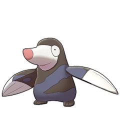 Sprite of Drilbur in Pokémon Sword/Shield