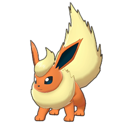 Sprite of Flareon in Pokémon Sword/Shield
