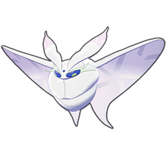 Sprite of Frosmoth in Pokémon Sword/Shield