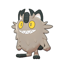 Sprite of Galarian Meowth in Pokémon Sword/Shield