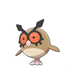 Sprite of Hoothoot in Pokémon Sword/Shield