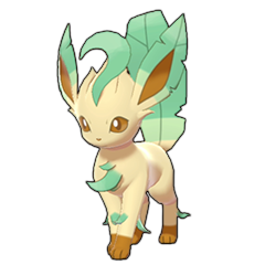 Sprite of Leafeon in Pokémon Sword/Shield