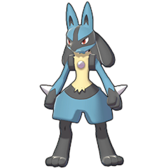 Sprite of Lucario in Pokémon Sword/Shield