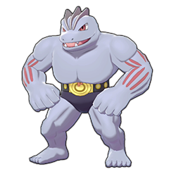Sprite of Machoke in Pokémon Sword/Shield