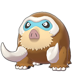 Sprite of Mamoswine in Pokémon Sword/Shield
