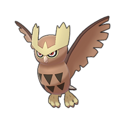 Sprite of Noctowl in Pokémon Sword/Shield