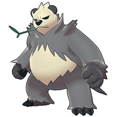 Sprite of Pangoro in Pokémon Sword/Shield