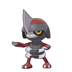 Sprite of Pawniard in Pokémon Sword/Shield
