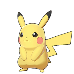Sprite of Pikachu in Pokémon Sword/Shield