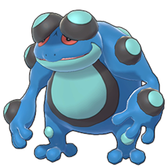Sprite of Seismitoad in Pokémon Sword/Shield