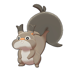 Sprite of Skwovet in Pokémon Sword/Shield