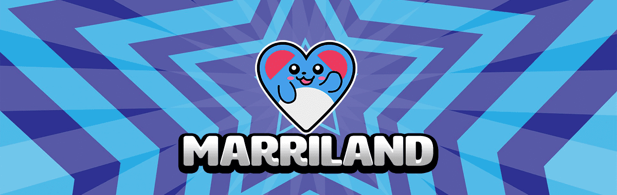Marriland heart icon in a banner