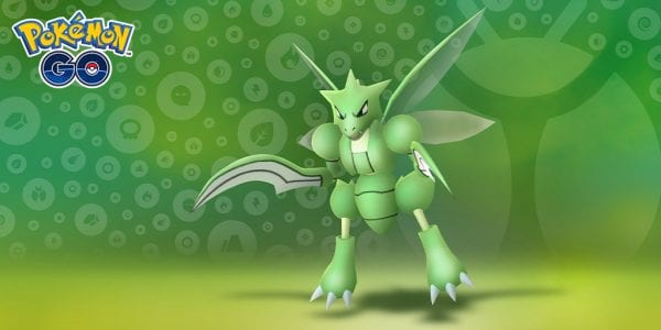 Scyther in Pokémon GO for the Bug Out event