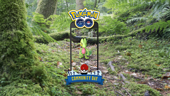 Treecko in Pokémon GO for Community Day