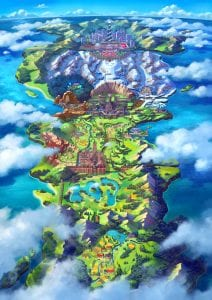 Map of the Galar Region