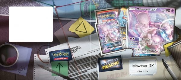 A look at the Mewtwo-GX Case File opened up.