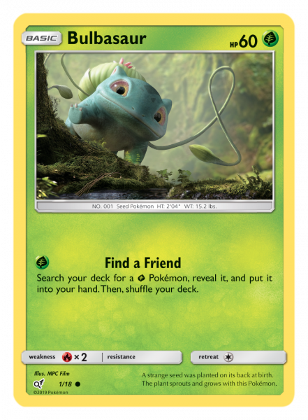 Bulbasaur TCG Card