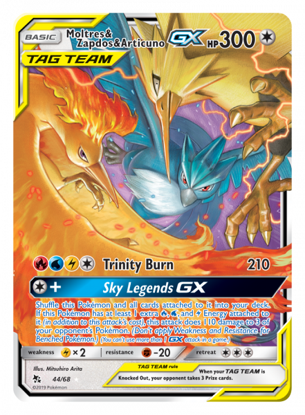 The Moltres & Zapdos & Articuno-GX TAG TEAM trio card