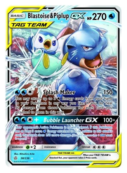 Blastoise & Piplup-GX Card