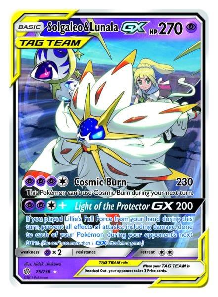 Solgaleo & Lunala-GX Card