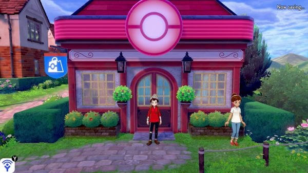 Outside of a Pokémon Center