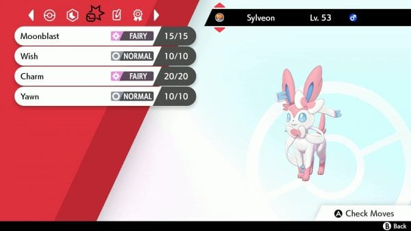 Sylveon with Egg Moves