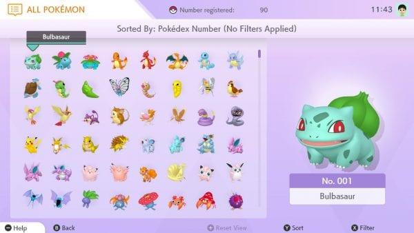 The National Pokédex in Pokémon HOME