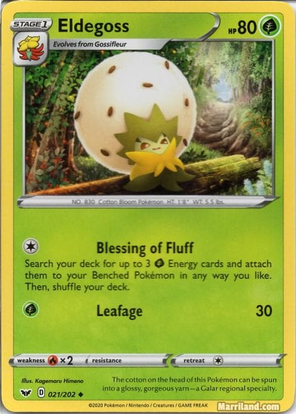 Eldegoss TCG Card