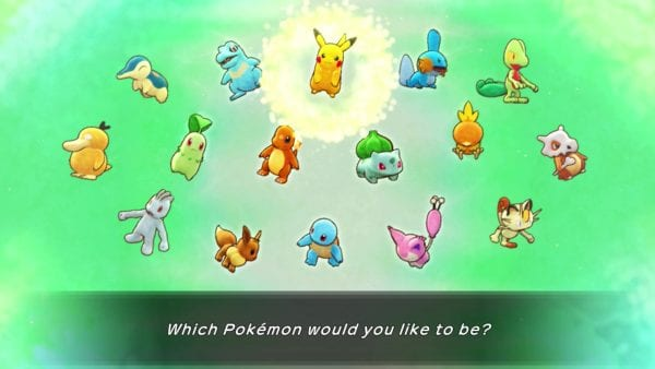 The 16 possible starter Pokémon in Pokémon Mystery Dungeon: Rescue Team DX.