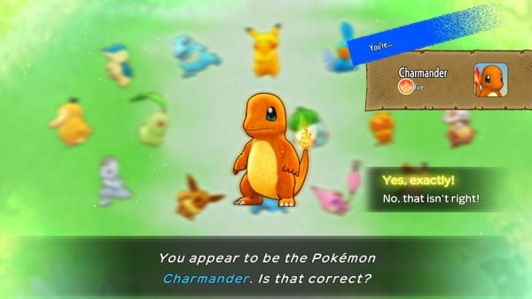 """""""You appear to be the Pokémon Charmander. Is that correct?"""""""