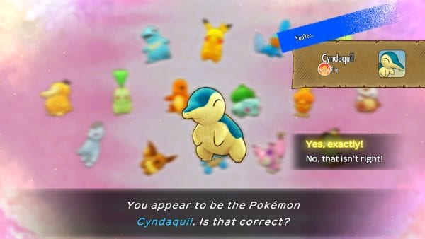 """""""You appear to be the Pokémon Cyndaquil. Is that correct?"""""""