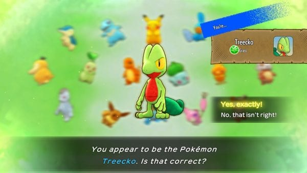 """""""You appear to be the Pokémon Treecko. Is that correct?"""""""