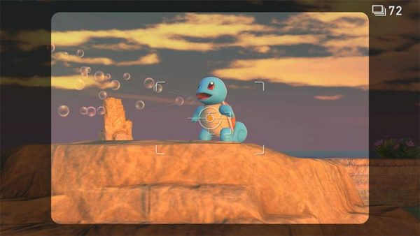 A picture of a Squirtle blowing bubbles