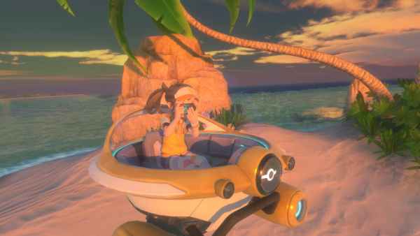 A picture of the NEO-ONE vehicle with the player taking pictures in the game