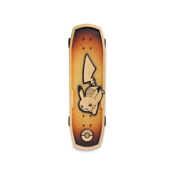 Bear Walker Skateboard top with Pikachu on it