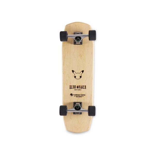 Underside of Bear Walker 25th Pokémon Anniversary Skateboard that shows a Pikachu face