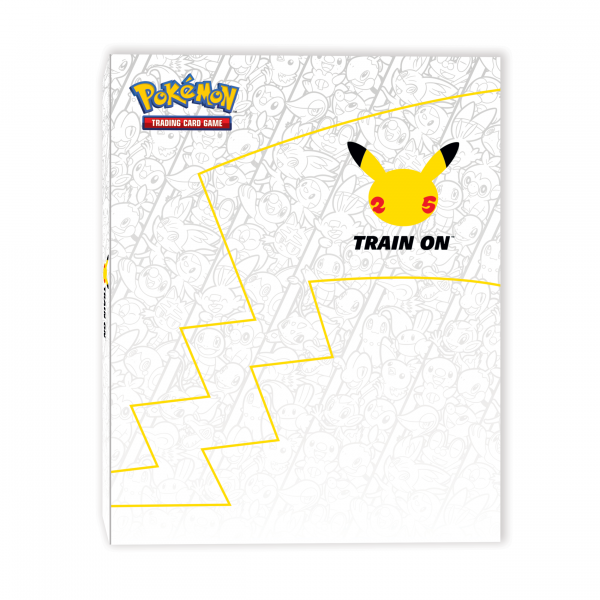 Binder for oversized cards featuring a Pikachu thunderbolt tail and a Pikachu head icon