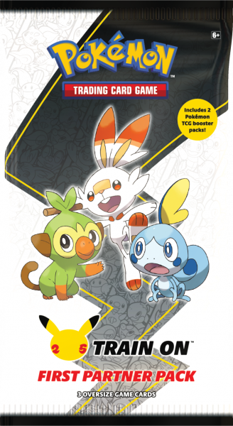 Large booster pack featuring Grookey, Scorbunny and Sobble