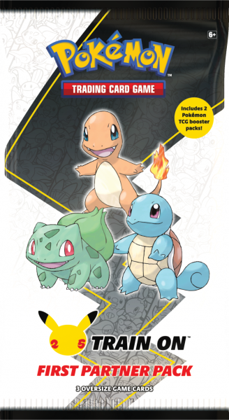 Large booster pack featuring Bulbasaur, Charmander and Squirtle