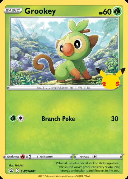 Grookey TCG card