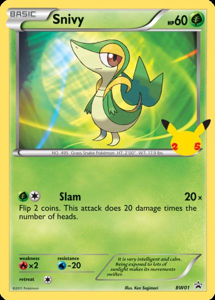 Snivy TCG card