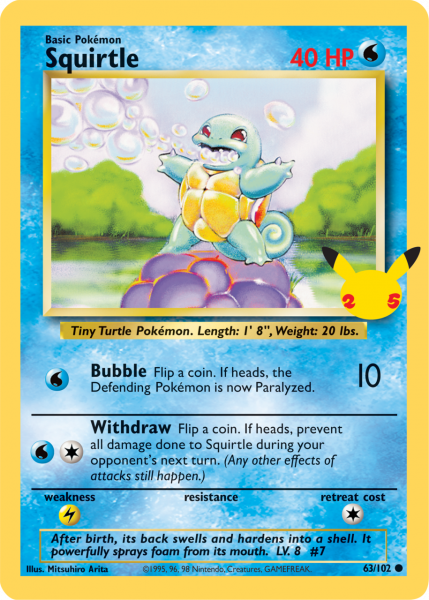 Squirtle TCG card