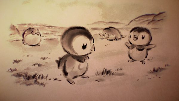 Sketches of Piplup and Spheal