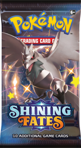 Booster pack from Shining Fates with Shiny Corviknight