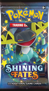 Booster pack from Shining Fates with Shiny Dragapult