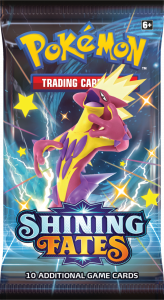 Booster pack from Shining Fates with Shiny Toxtricity